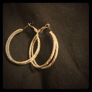 Double hoop earrings. BOGO Never used